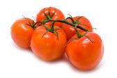 Röda saftiga tomater — Stockfoto