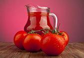 西红柿和果汁 — 图库照片