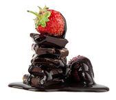 Morango no chocolate — Fotografia Stock