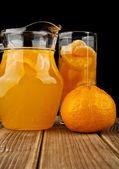 Oranges and juice — Stockfoto