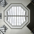 Octagon glass ceiling — Stock Photo