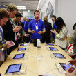 Stock Photo: IPhone 5 launch at Apple Store on Regent Street in London, UK