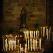 Foto Stock: Candles in church
