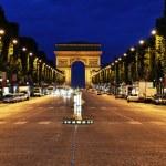 The Champs-Elysées avenue in Paris — Stock Photo
