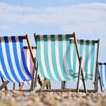 Deck chairs on Brighton beach — Stock Photo #14341717