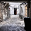 Stock Photo: Decrepit courtyard in Paris