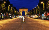 The Champs-Elysées avenue in Paris — Stock Photo