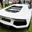 A white Lamborghini Aventador LP700-4 — Stock Photo