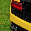 Rear detail of an Italian supercar — Stock Photo