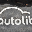 An Autolib sign — Stock Photo #15372843