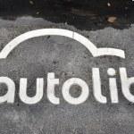 An Autolib sign — Stock Photo