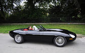 Moderniserad jaguar e-type — Stockfoto