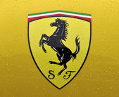 The Cavallino Rampante, symbol of ferrari — Stock Photo