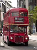 Old double decker London bus — Stock Photo