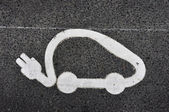 Electric car sign — Stock Photo