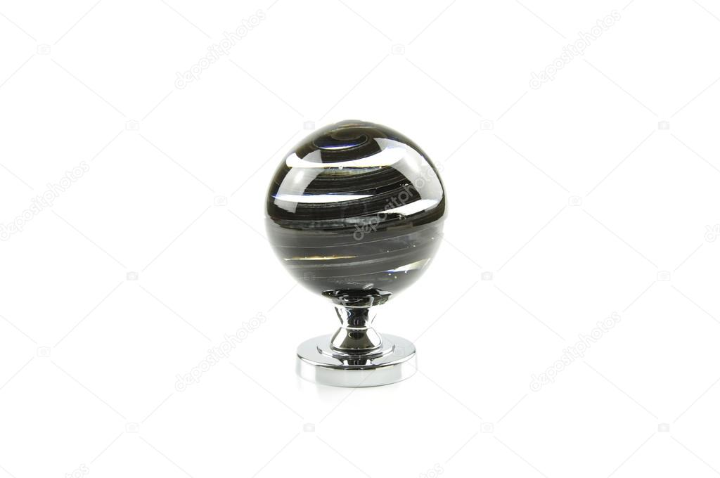 Glass door knob on white background — Stock Photo #15768997
