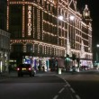 Stock Video: Harrods decorated for Christmas