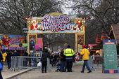 在伦敦海德公园冬季仙境 — 图库照片