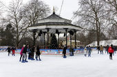 Paysage hivernal à hyde park, londres — Photo