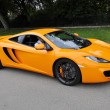 Stock Photo: Orange McLaren MP4-12C