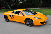 Orange McLaren MP4-12C — Stock Photo