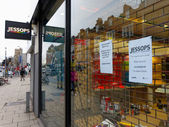 Jessops camera store closed down on High Street Putney in London — Стоковое фото