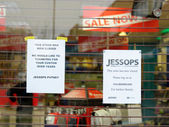 Jessops camera store closed down on High Street Putney in London — Foto Stock
