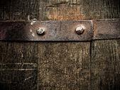 ビンテージ バレルのクローズ アップ — ストック写真