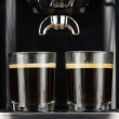 Two espressos — Stock Photo