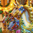 Stock Photo: Merry-go-round horses