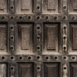 Antique wooden door closeup — Stock Photo