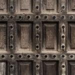 Antique wooden door closeup — Stock Photo #21299437