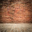 Brick wall and floor with vignette — Stock Photo #22759832