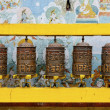 Prayer wheels at Bodhnath stupa in Kathmandu — Stock Photo #22792966