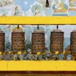 Prayer wheels at Bodhnath stupa in Kathmandu — Stock Photo