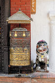 Prayer wheel at Bodhnath stupa in Kathmandu — Stock Photo