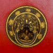 Tibetan door knocker — Stock Photo