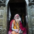 A sadhu during Shivaratri festival in Kathmandu, Nepal — Stock Photo