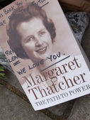 Homenaje a thatcher margaret — Foto de Stock