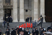 Baroness Thatcher's funeral — Stock Photo
