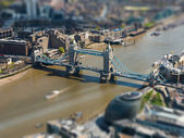 Tower Bridge and London City Hall aerial view — Stock Photo