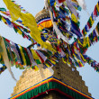 Prayer flags at Bodhnath — Stock Photo