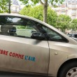 Autolib' electric car sharing service in Paris — Stock Photo