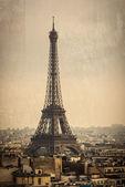 Eiffelova věž v paříži, francie — Stock fotografie
