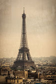 La torre eiffel en parís, francia — Foto de Stock
