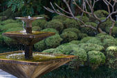 Fountain in an Asian garden — Stock Photo
