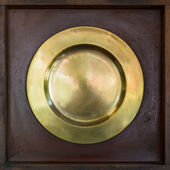 Brass plate — Stock Photo