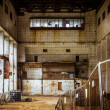 Abandoned and derelict industrial interior — Stock Photo