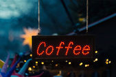 Coffee sign — Stock Photo