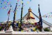 Bodhnath stupa in Kathmandu, Nepal — Stock Photo